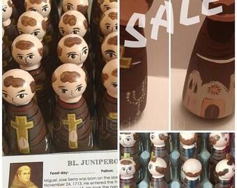 St. Junipero Serra Peg Doll