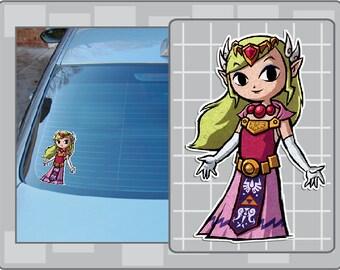 PRINCESS ZELDA from the Legend of Zelda Wind Waker No. 1 Vinyl Decal Sticker
