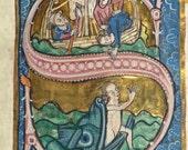 Medieval Illuminated Manuscripts VIII - Cross stitch pattern pdf format