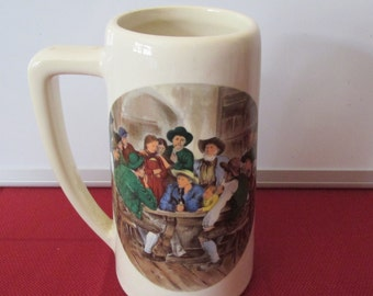 Vintage McCoy Pottery Beer Stein / Mug / Tankard