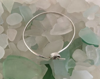Tiny sterling silver bangle