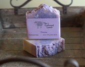 Princess Handmade Luxury Soap Bath Bar Hot Process Soap with Silk Purple and Pink Handcrafted Artisan Soap Bar 6 oz Love Spell Fragrance