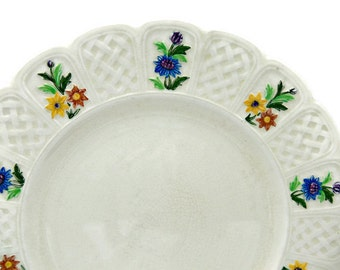 Antique Coalport Bone China Plate - Kingsware - Lady Hamilton Pattern