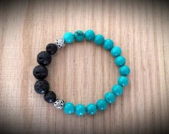 Essential Oil Diffuser Bracelet - Turquoise Gemstone Bracelet