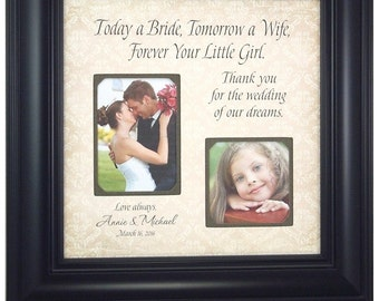 Wedding Picture Frame for Bride Parents, Personalized Wedding Photo Frame, Today A Bride, 16 X 16