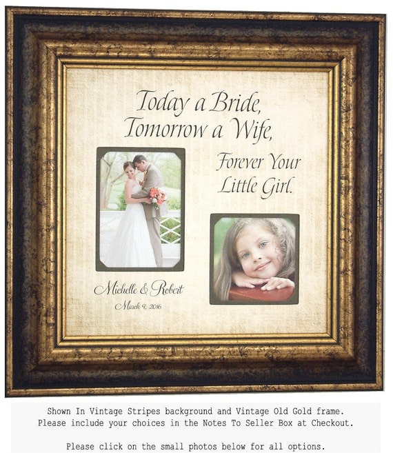 PARENTS THANK YOu Personalized Picture Frame, Today A Bride Forever Your Little Girl, Personalized Wedding Gift 16 X 16