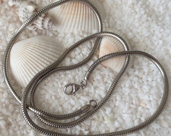Stainless Steel Snake Necklace - 1.5mm - 19 inch length - 1 pc