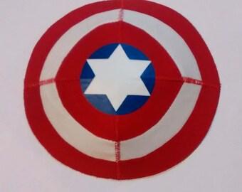 Captain America Sheild Saucer Kippah Yarmulke