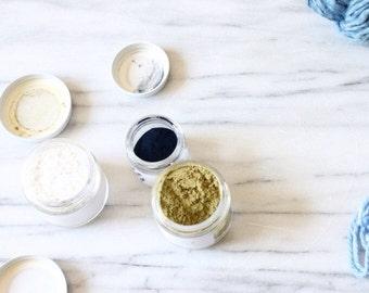 Indigo Dye Vat Collection, Pre Reduced Indigo, Henna, and Lime