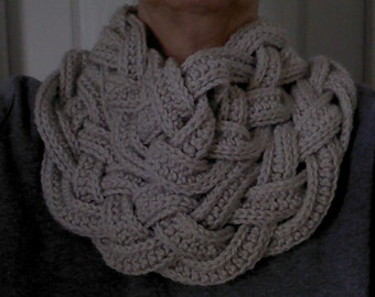 Crochet Braided Scarf