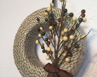 Brown and Tan Wreath Small