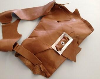 Short Shoulder Leather Bag_Camel