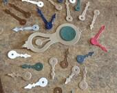 Various Coloured Clock hands - wall clock - metallic mix and match hands - kraft - scrapbooking - cardmaking - altered art