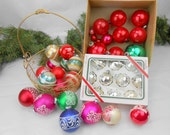 Vintage Christmas balls mercury glass Christmas decorations Christmas ornaments mercury glass vintage ornaments big red balls