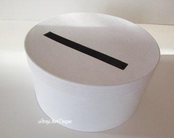 DIY Wedding Card Box White Round Card Box