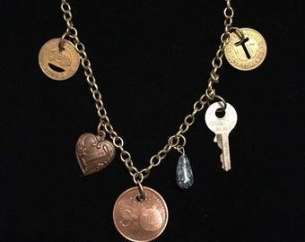 Various Charms Necklace
