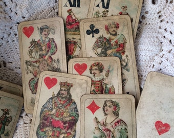 Antique 1900s Czech Playing Cards That Are Breath Taking Art
