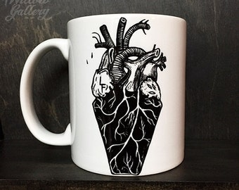 My Coffin Heart  Mug by Lupe Flores