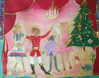 Handpainted Silk The Nutcracker by The Silk Maid