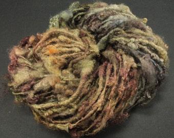 Handspun art yarn: Wensleydale locks, 4.2 oz, 42 yards