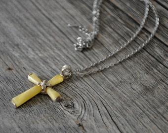 HandCrafted Butterscotch   Baltic Amber Cross