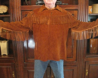 Fringed buckskin shirt, brown. slipover. Get it now.  No more when this one sales