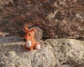Felted fox miniature, miniature fox, super tiny fox, 1 inch fox