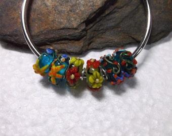 15 Murano Lampwork Sea Life And Beach Themed Beads