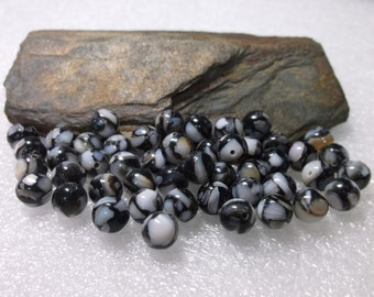 48 Snow Flake Beads