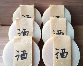 Sake lees(sake kasu) soap