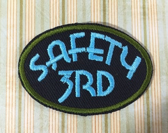 PATCH Safety 3rd - Sky Blue, Forest Green
