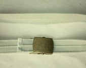 S A L E Vintage Cotton Belt - Buckle - Belt can fit for Size S and M