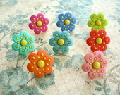 Flower Thumbtack, Flower Push Pin, Flower Notice Board Pins