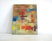 Vintage Abstract Painting - Colorful Mid Century Artwork - Beautiful