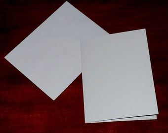 "25 BLANK Note Cards WHITE 5"" x 6.5"" (Folded Size) PLAIN for Greeting Cardmaking Matching Envelopes Stationery Source"