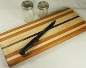 Large Cutting Board, Serving Board or Food Preparation Board, Large Vegitable Cutting Board, Edge Grain Cutting Board Cherry Maple Walnut