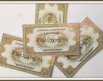 London to Hogwarts Sticker Labels