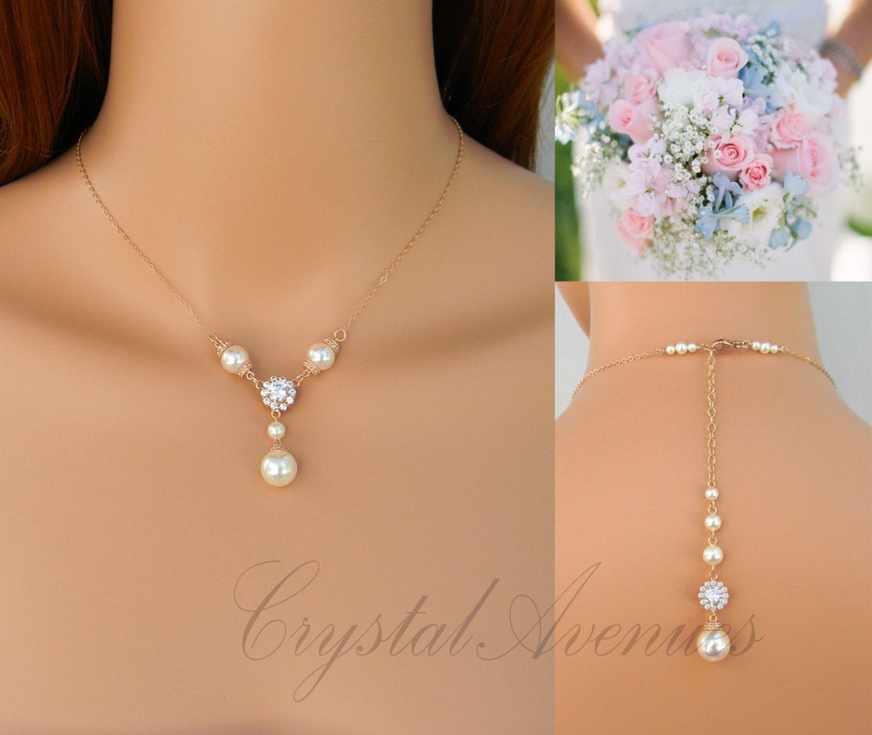 rose gold necklace set backdrop delicate wedding necklace. Black Bedroom Furniture Sets. Home Design Ideas