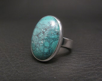 Teal Turquoise Ring