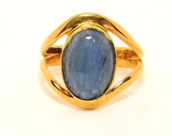 COA:NM Signature Series! Blue Indian Saphire Sterling Silver Ring. Size 7.