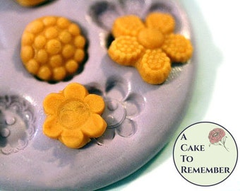 Silicone button mold, tiny buttons mold for cake decorating, chocolate button mold, polymer clay mold, resin button mold, cake pops M32