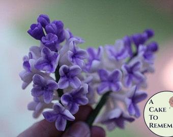 Gumpaste Lilacs Cluster for Cake Decorating, edible flowers, sugar flowers, sugar lilacs, wedding cake flowers, wedding cake toppers