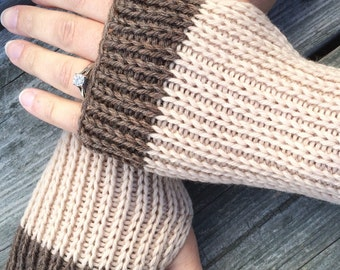 Fingerless gloves, Knit Gloves, Hand Warmers, Texting Gloves, Mens Fingerless gloves
