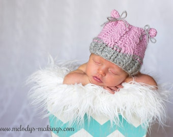 Cabled Bear Hat Crochet Pattern - All Newborn, Baby, and Toddler Sizes Included - Instant Digital Download
