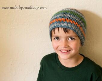 Boy Beanie Crochet Pattern - Easy Men's Hat Crochet Pattern - Easy Boy Hat Crochet Pattern - Men's Beanie Crochet Pattern