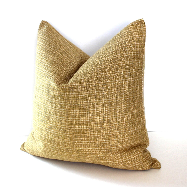 Gold Stripe Decorative Pillow : Gold Pillow Cover Stripe Throw Pillow Cover Decorative Pillow