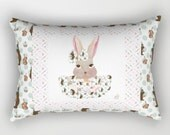 Rectangular Throw Pillow, Easter Bunny