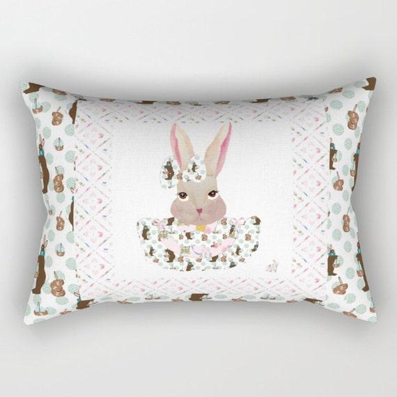 Rectangular Throw Pillow, Easter Bunny