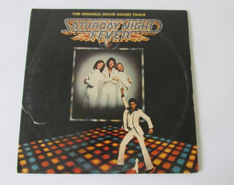 Saturday Night Fever Soundtrack 70s Bee Gees Tavares Yvonne Elliman Double Album LP Vinyl Record 1977
