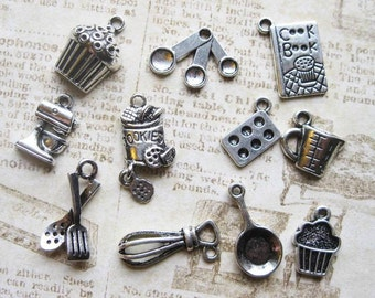 Baking Charm Collection in Silver Tone - C2265